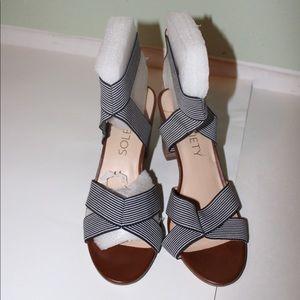 Sole Society Chunky Sandal Style Heels